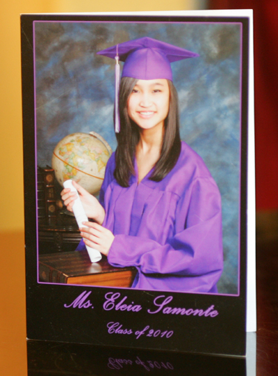 graduation invitation purple cap and gown oakland professional